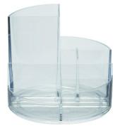 Schreibgeraetekoecher glasklar 4 Faecher