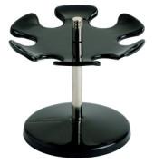 Stempelträger für 6 Stempel schwarz Ø110mm drehbar rund