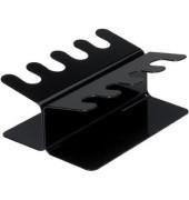 Stempelträger für 8 Stempel schwarz 2-reihig gerade