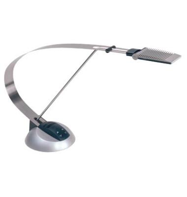 Schreibtischlampe MAULprimus 820 70 95, LED, dimmbar, mit Standfuß, silber