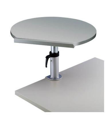 Tischpult ergonomisch m.Klemme grau 600x520mm teleskop