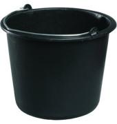 Eimer 12 Liter schwarz mit Metallbügel