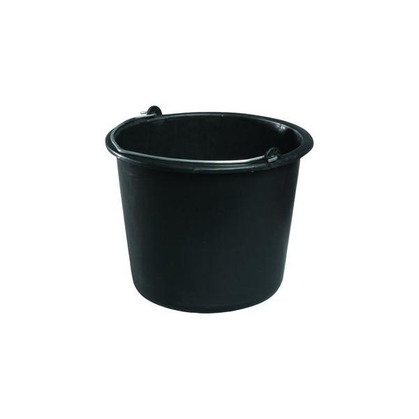 meiko eimer 12 liter schwarz mit metallb gel. Black Bedroom Furniture Sets. Home Design Ideas