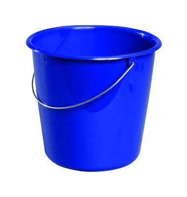 Eimer 10 Liter blau Kunstoff mit Metallbügel