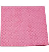 Schwammtuch für Küche/Bad feucht rosa 18 x 20 cm 10 Stück