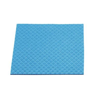 Schwammtuch für Küche/Bad feucht blau 18 x 20 cm 10 Stück