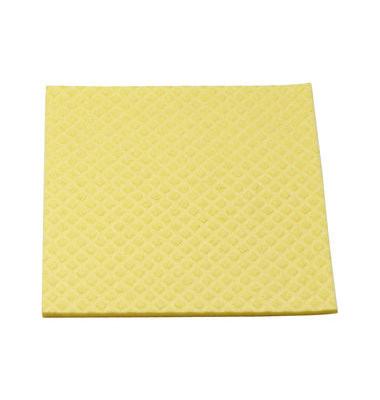 Schwammtuch für Küche/Bad feucht gelb 18 x 20 cm 10 Stück