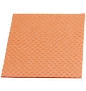 Schwammtuch für Küche/Bad feucht orange 18 x 20 cm 10 Stück