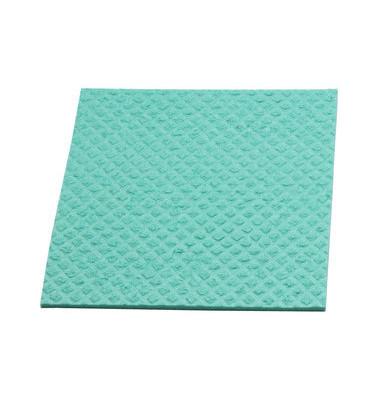 Schwammtuch für Küche/Bad feucht grün 18 x 20 cm 10 Stück