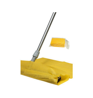 Staubtuch/Mopptuch imprägniert gelb 60 x 60 cm