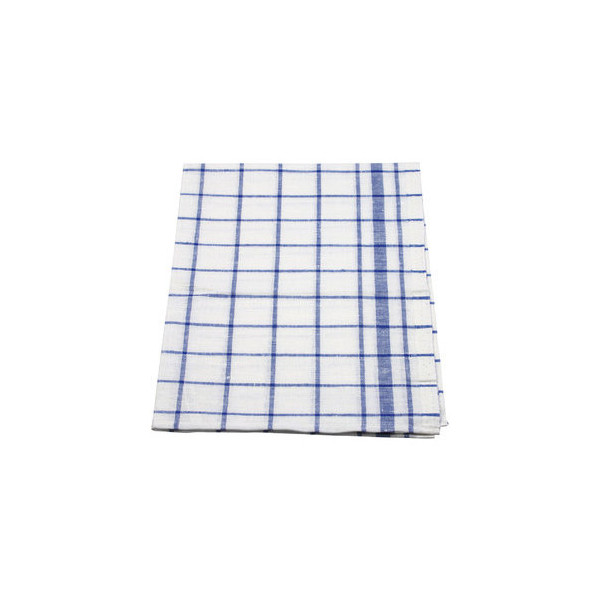 Meiko Geschirrtücher kariert blau/weiß Halbleinen 50 x 70 cm 10 Stück
