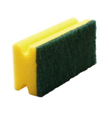 Reinigungsschwamm robust Griffleiste gelb/grün 9,5 cm 6 Stück