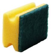 Reinigungsschwamm robust Griffleiste gelb/grün 15 cm 10 Stück
