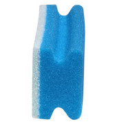 Reinigungsschwamm kratzfrei Griffleiste blau/weiß 15 cm 10 Stück