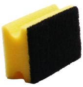 Reinigungsschwamm extra robust Griffleiste gelb/schwarz 15 cm 10 Stück