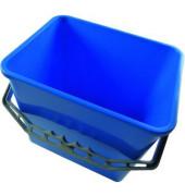 Eimer 6 Liter blau rechteckig mit Kunststoffbügel