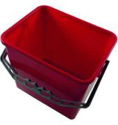 Eimer 6 Liter rot rechteckig mit Kunststoffbügel