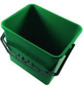 Eimer 6 Liter grün rechteckig mit Kunststoffbügel