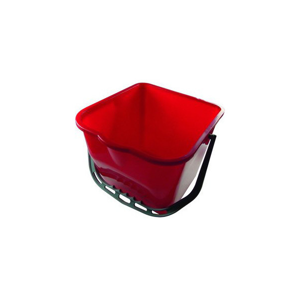 meiko eimer 15 liter rot rechteckig mit ausgie er kunststoffb gel. Black Bedroom Furniture Sets. Home Design Ideas