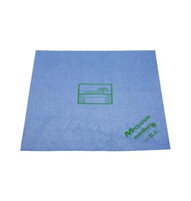Reinigungstücher MPower Mikrofaser für Schreibtisch blau 40 x 40 cm 5 Stück