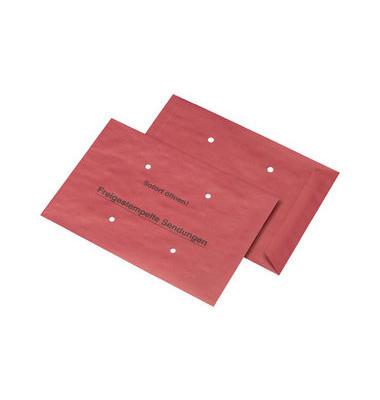 Freistempler B4 ohne Fenster nassklebend 4 Löcher 90g rot 500 Stück