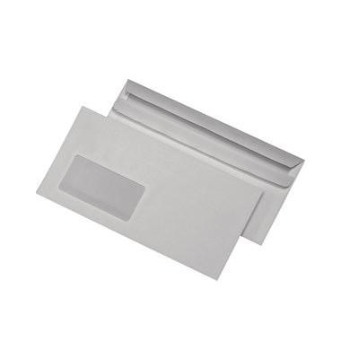Briefumschläge Din Lang+ mit Fenster selbstklebend 75g weiß 1000 Stück