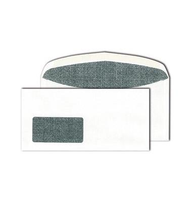 Kuvertierhüllen Kuvermatic C6/5 mit Fenster nassklebend 80g weiß 1000 Stück