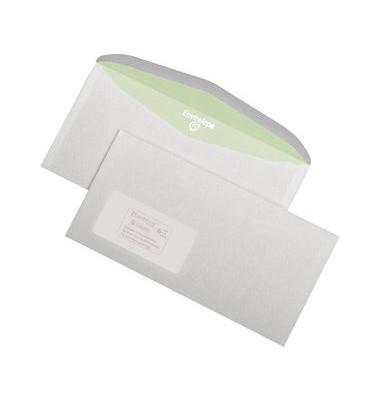 Kuvertierhülle C6/5 m.Fe.,n.kl.75g weiß 1000 Stück Recycling