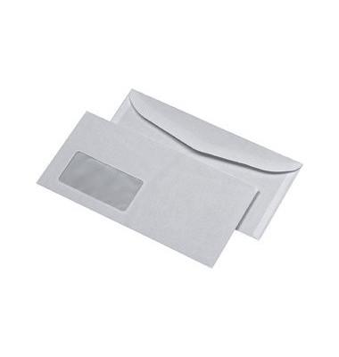 Kuvertierhüllen C6/5 mit Fenster nassklebend 80g weiß 1000 Stück