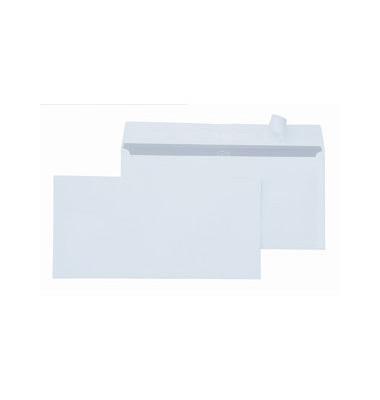 Briefumschläge Din Lang+ ohne Fenster haftklebend 80g weiß 500 Stück