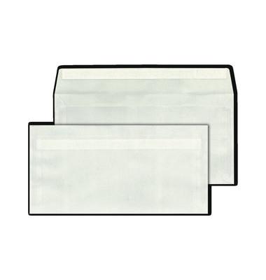 Briefumschläge Din Lang ohne Fenster haftklebend Satin 80g transparent 1000 Stück
