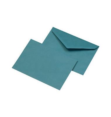 Designbriefumschläge C6 ohne Fenster nassklebend 75g blau 1000 Stück Recycling