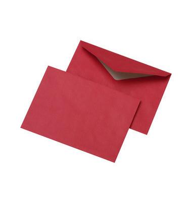 Briefumschläge C6 ohne Fenster nassklebend 75g rot 1000 Stück
