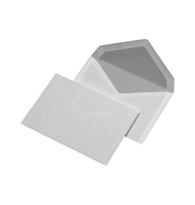 Briefumschläge C6 ohne Fenster nassklebend 72g weiß 100 Stück