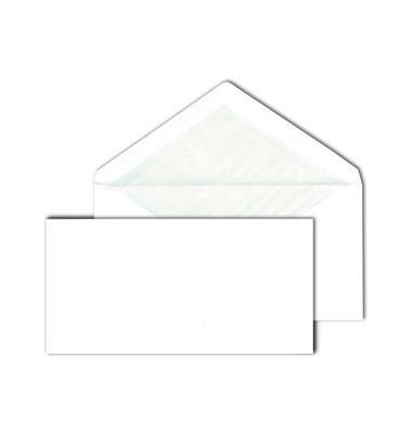 Briefumschläge Din Lang ohne Fenster nassklebend mit Seidenfutter 80g weiß 500 Stück