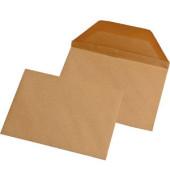 Briefumschläge Wertbrief B6 ohne Fenster nassklebend 120g braun 125x176mm 250 Stück