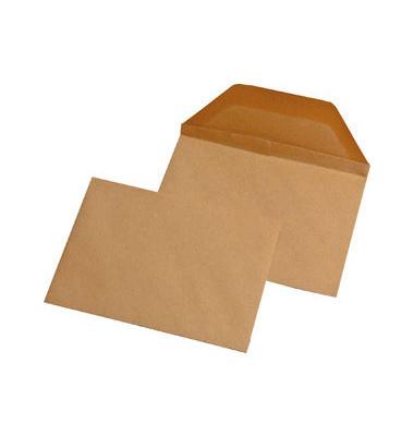 Briefumschläge Wertbrief B6 ohne Fenster nassklebend 120g braun 250 Stück