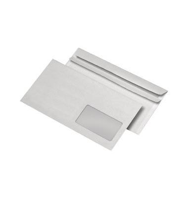 Briefumschläge Din Lang mit Fenster rechts selbstklebend 80g weiß 1000 Stück