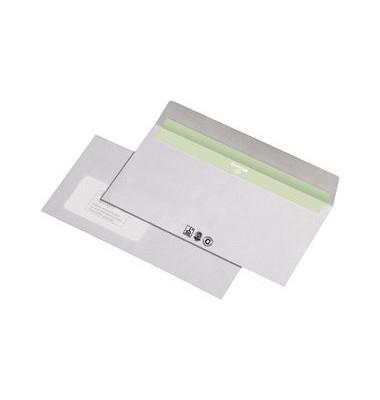 Briefumschläge Din Lang mit Fenster haftklebend 80g recycling-weiß 1000 Stück Recycling