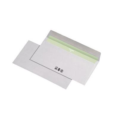 Briefumschläge Din Lang ohne Fenster haftklebend 80g recycling-weiß 1000 Stück Recycling