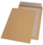 Versandtaschen B4 ohne Fenster mit Papprückwand haftklebend 120g braun 100 Stück