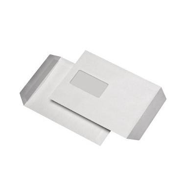 Versandtaschen C5 mit Fenster selbstklebend 90g weiß 50 Stück
