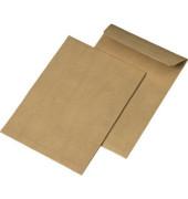 Faltentaschen C5 ohne Fenster 30mm Falte haftklebend 110g braun 250 Stück