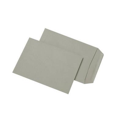 Versandtaschen C5 ohne Fenster nassklebend 80g grau 500 Stück Recycling