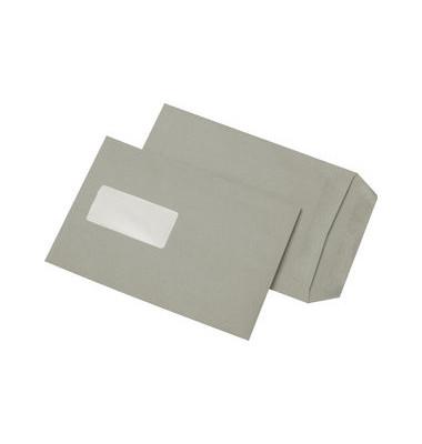 Versandtaschen C5 mit Fenster selbstklebend 80g grau 500 Stück Recycling