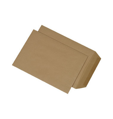 Versandtaschen B5 ohne Fenster nassklebend 90g braun 500 Stück