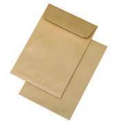 Faltentaschen B5 ohne Fenster 20mm Falte haftklebend 110g braun 250 Stück