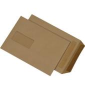 Versandtaschen B5 mit Fenster selbstklebend 90g braun 500 Stück