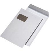 Versandtaschen C4 mit Fenster mit Papprückwand haftklebend 120g weiß 125 Stück
