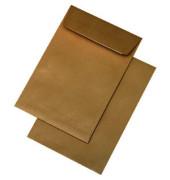 Faltentaschen B5 ohne Fenster 40mm Falte haftklebend 120g braun 250 Stück